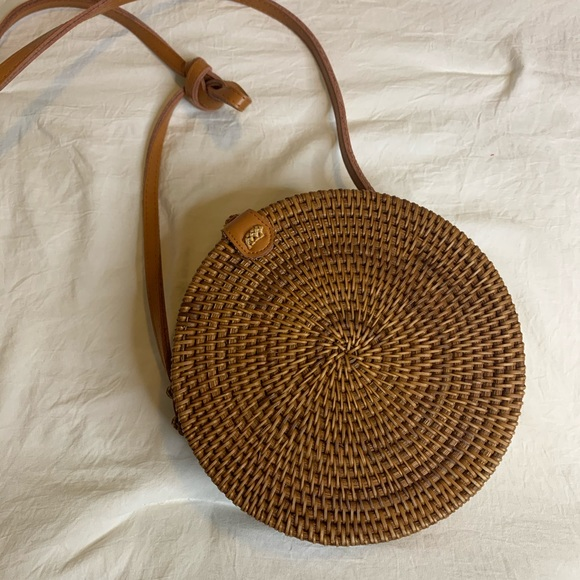Urban Outfitters Handbags - Urban Outfitters Rattan Circle Bag